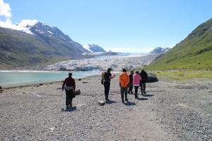 Reid Glacier beach walk