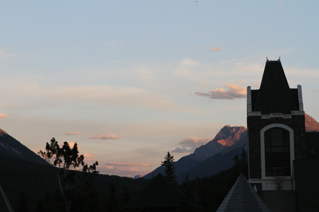 Sunset from the Terrace of a Scottish Castle in Banff